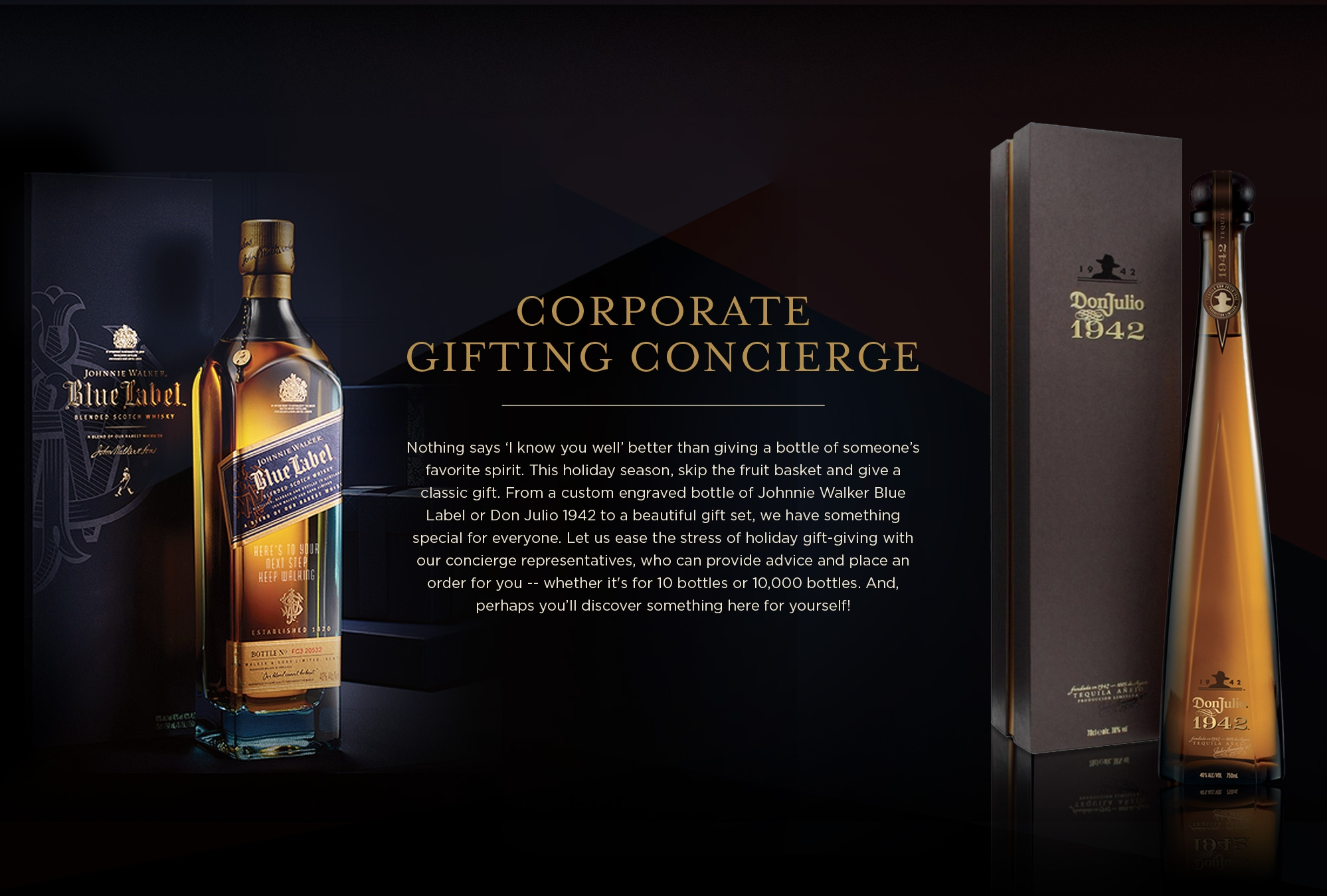 Corporate Gifting Concierge Banner - Tablet