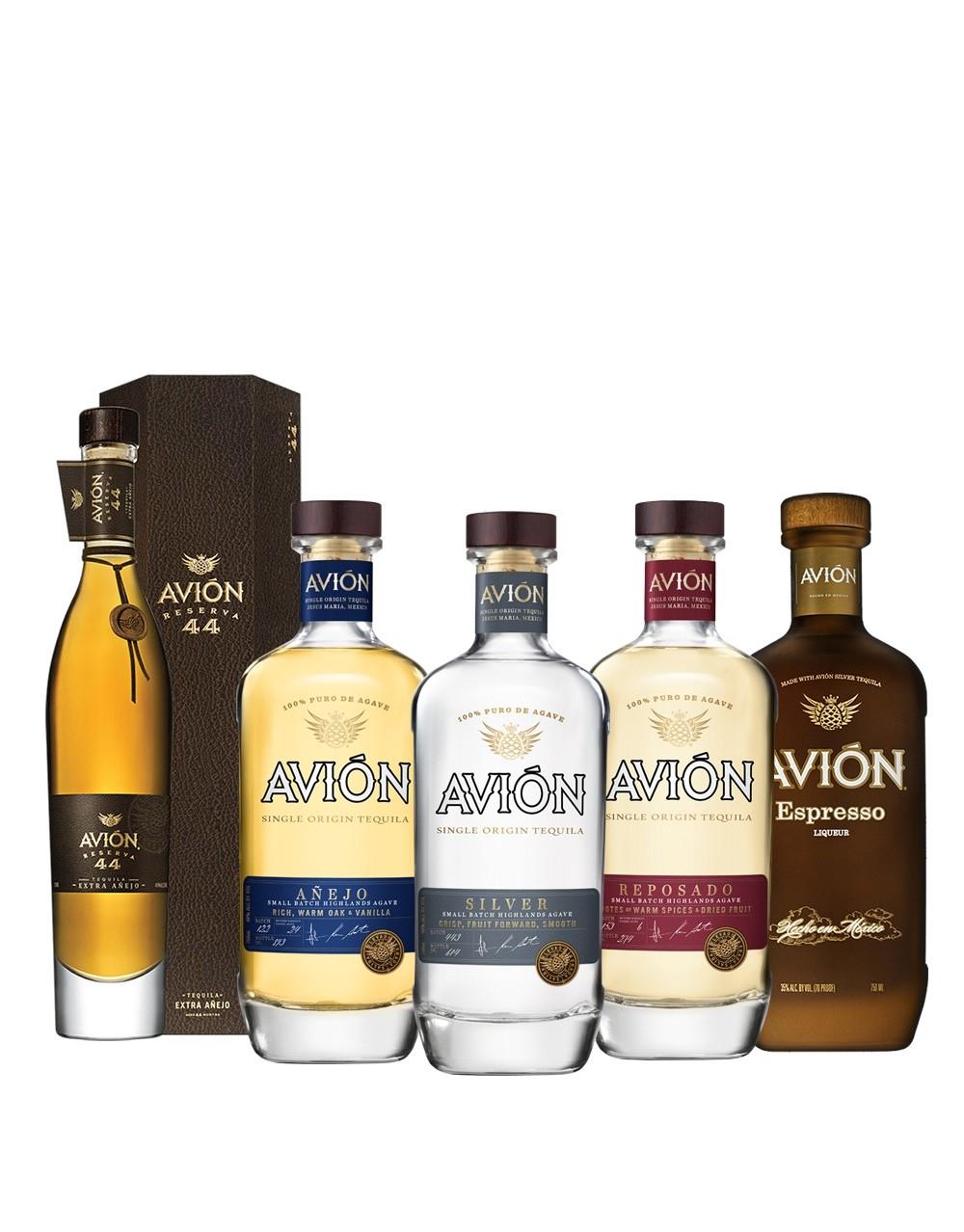b24c07a5e13f67 Avión Tequila Collection (5 bottles)