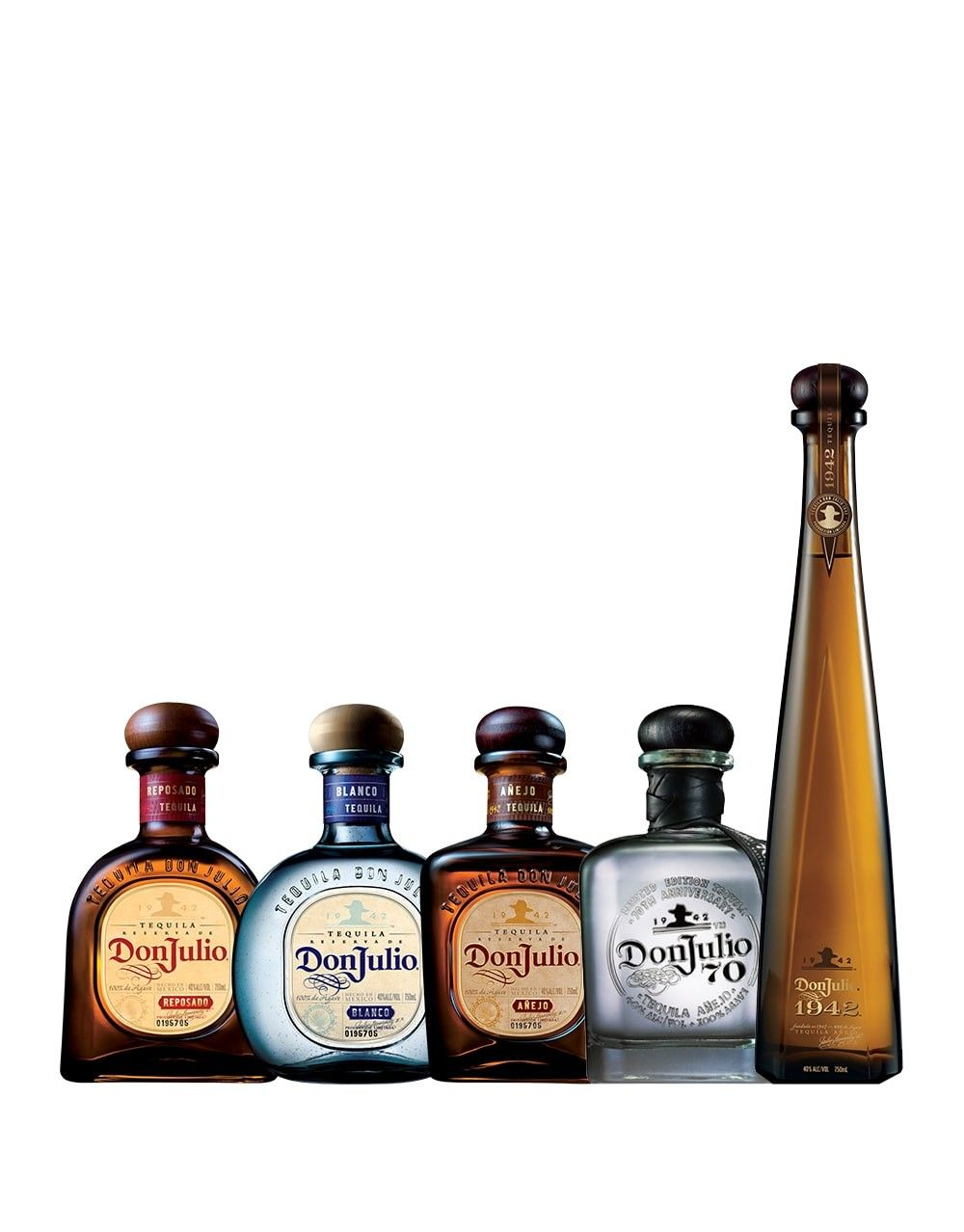 Don Julio Collection 5 Bottles Buy Online Or Send As A
