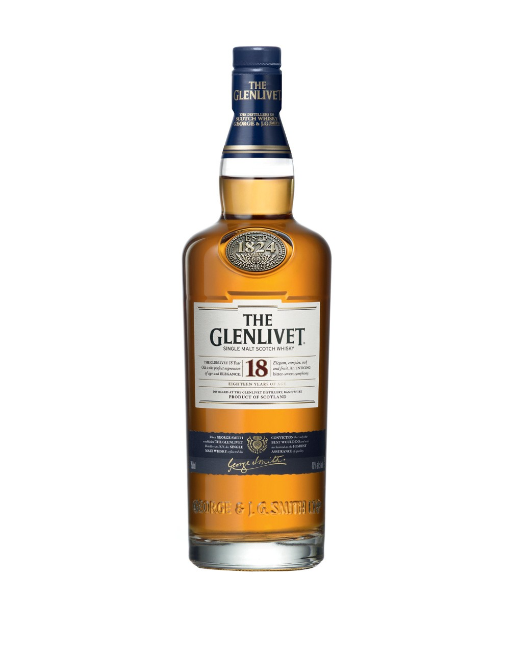 The Glenlivet 18 Year Old Scotch Whisky   Buy Online or Send as a Gift   ReserveBar