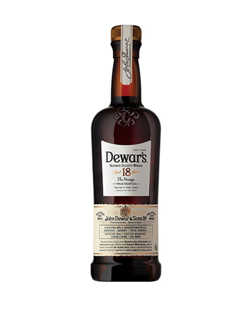 Dewar S 18 Year Old Scotch Whisky Buy Online Or Send As
