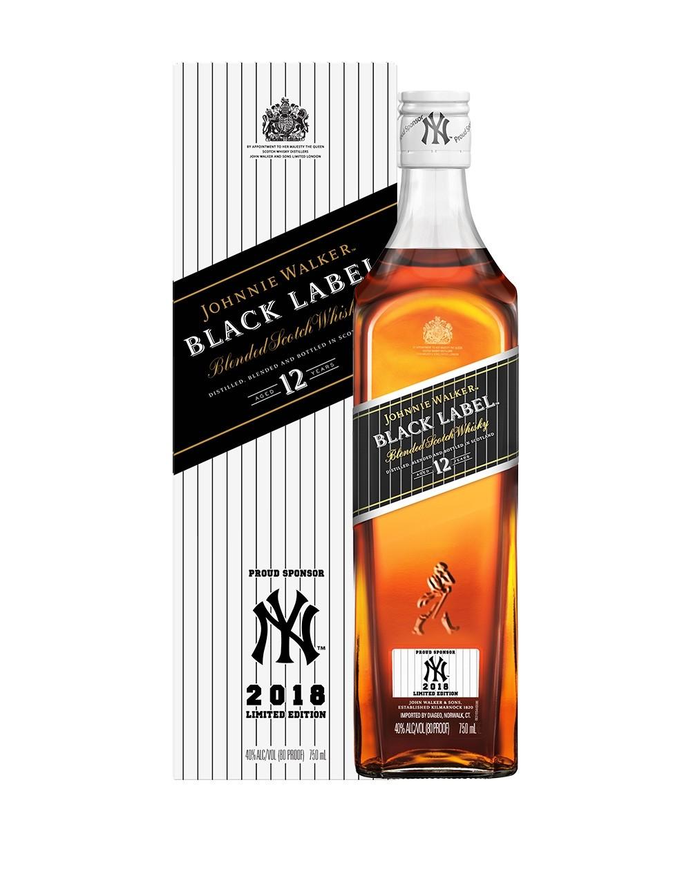 Johnnie Walker Black Label Yankees 2018 Limited Edition